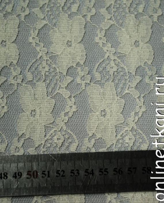 Ткань Гипюр-стрейч 113 цвет айвори цветочный картинка 2