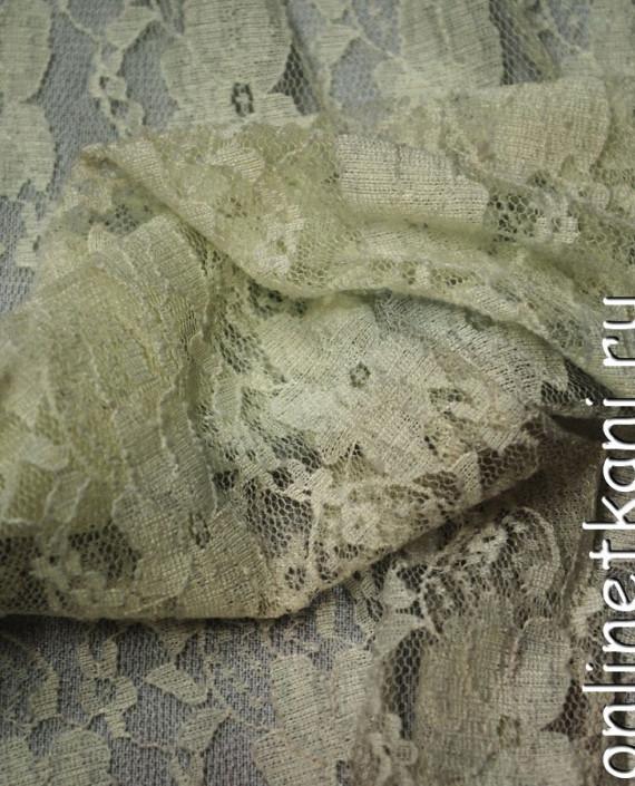 Ткань Гипюр-стрейч 113 цвет айвори цветочный картинка 1