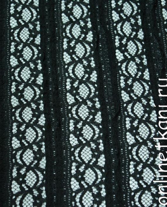 Ткань Гипюр-стрейч 114 цвет зеленый абстрактный картинка