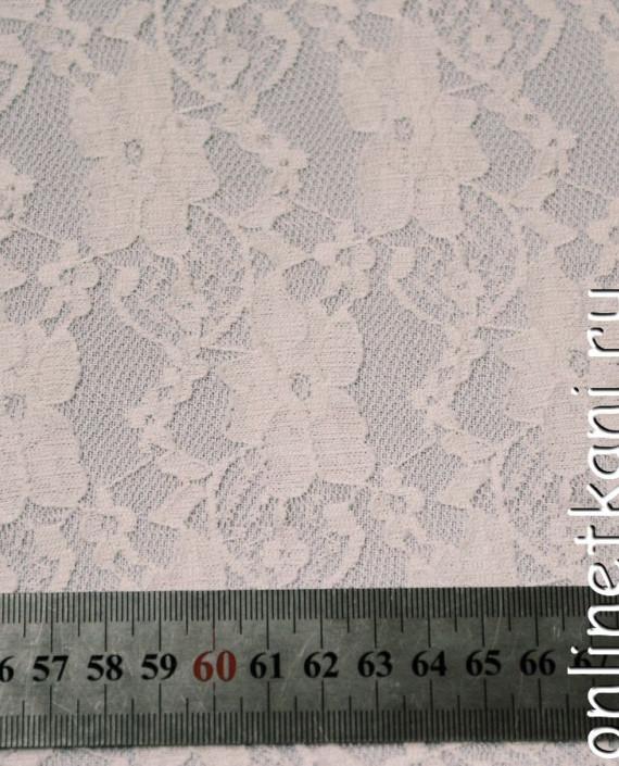 Ткань Гипюр-стрейч 116 цвет белый цветочный картинка 1