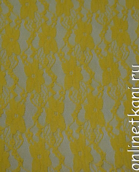 Ткань Гипюр-стрейч 121 цвет желтый цветочный картинка
