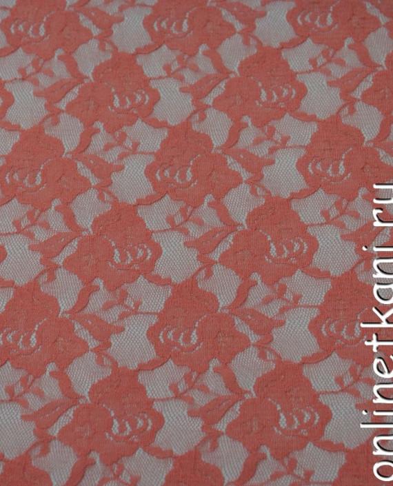 Ткань Гипюр-стрейч 131 цвет розовый цветочный картинка