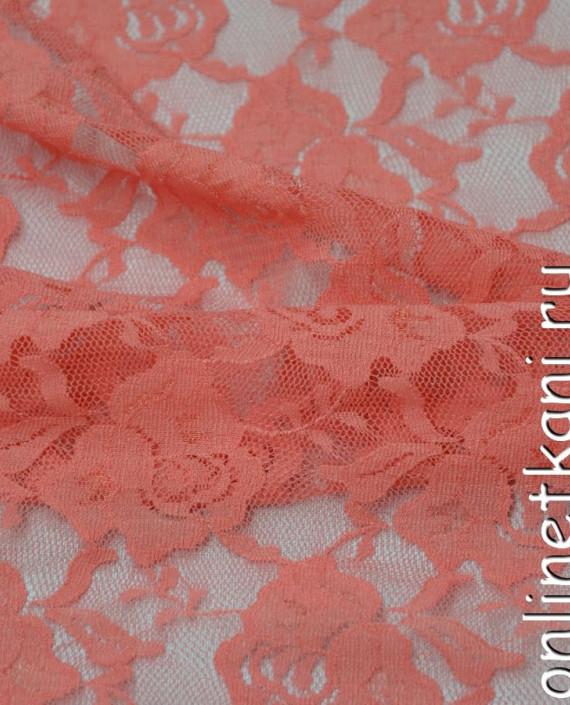 Ткань Гипюр-стрейч 131 цвет розовый цветочный картинка 2