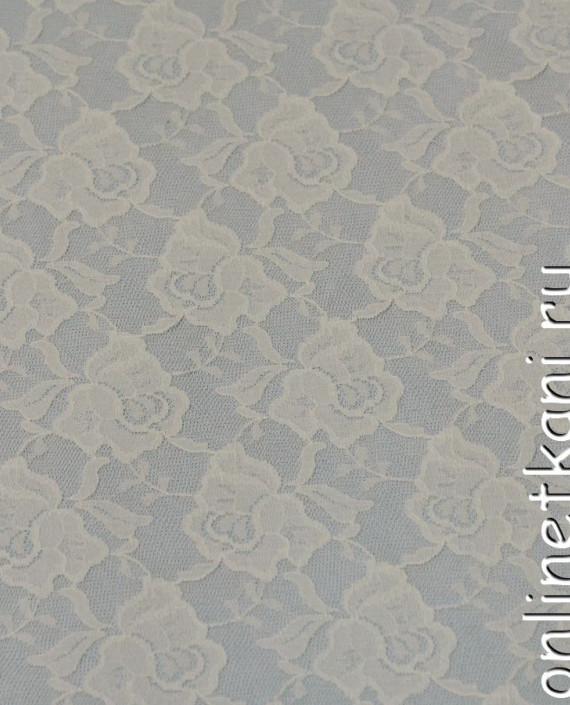 Ткань Гипюр-стрейч 132 цвет айвори цветочный картинка
