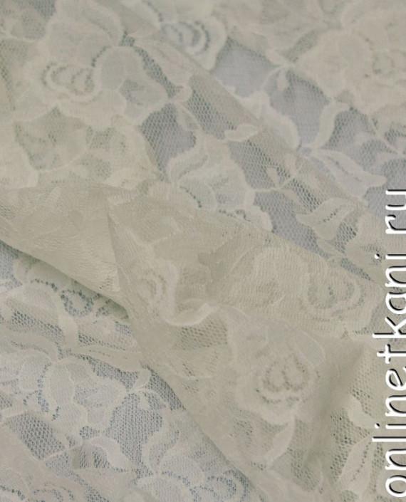 Ткань Гипюр-стрейч 132 цвет айвори цветочный картинка 2