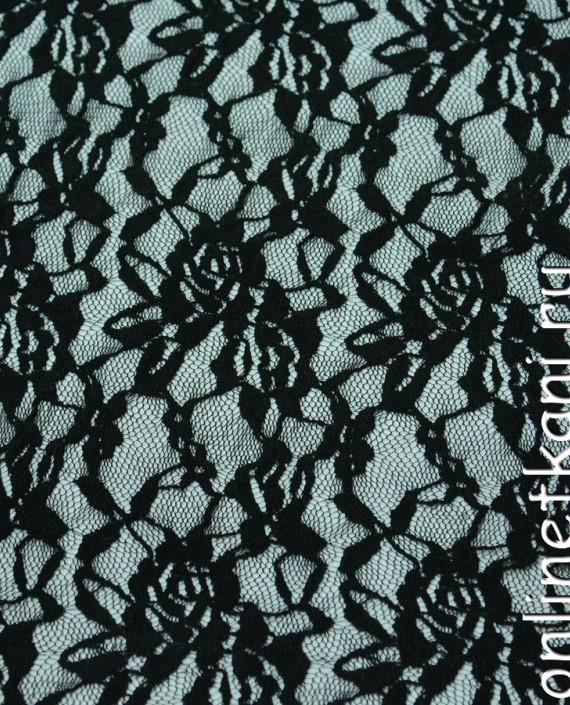 Ткань Гипюр-стрейч 134 цвет серый цветочный картинка