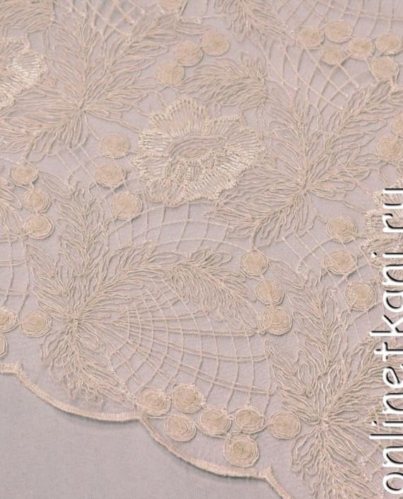 Ткань Гипюр 136 цвет айвори цветочный картинка