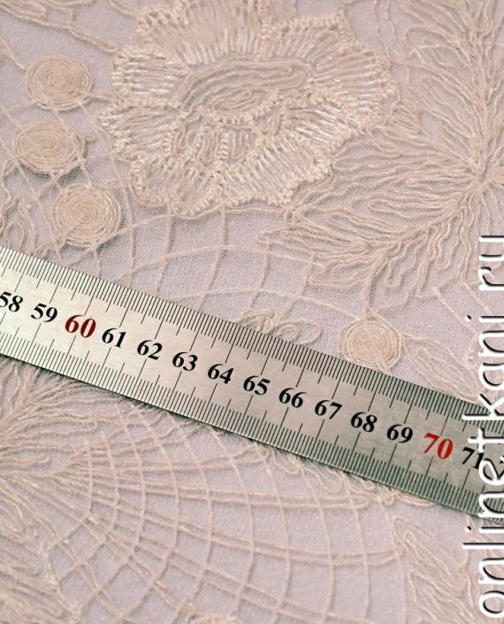 Ткань Гипюр 136 цвет айвори цветочный картинка 2
