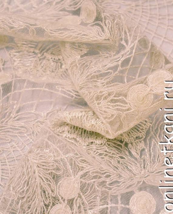 Ткань Гипюр 136 цвет айвори цветочный картинка 1