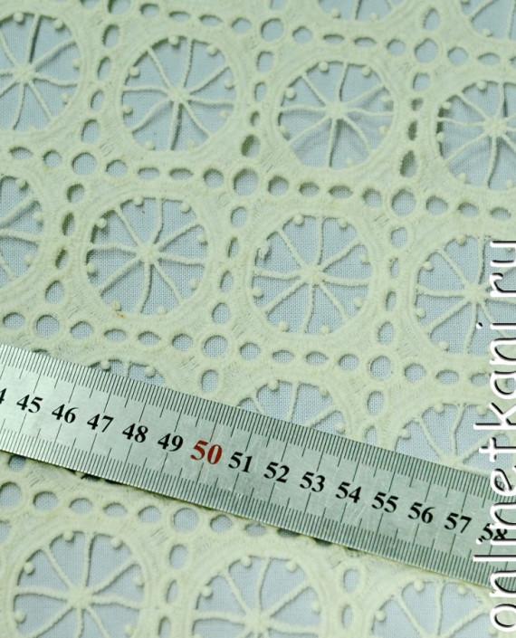 Ткань Гипюр 143 цвет айвори абстрактный картинка 2