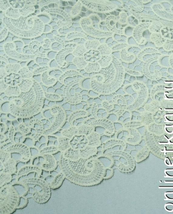 Ткань Гипюр 145 цвет белый цветочный картинка