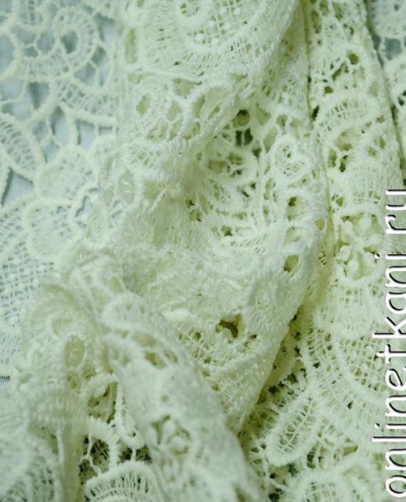 Ткань Гипюр 145 цвет белый цветочный картинка 1