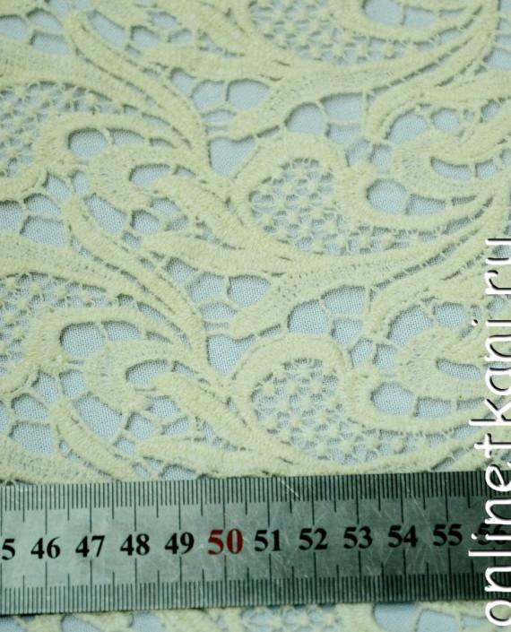 Ткань Гипюр 146 цвет айвори абстрактный картинка 2