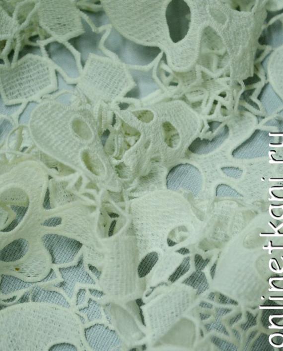 Ткань Гипюр 147 цвет белый абстрактный картинка 1