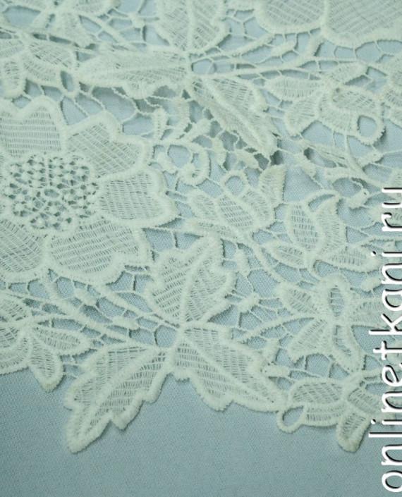 Ткань Гипюр 148 цвет белый цветочный картинка