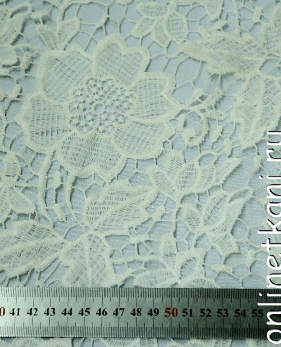 Ткань Гипюр 148 цвет белый цветочный картинка 2