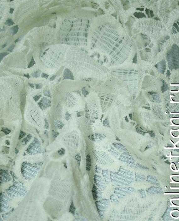 Ткань Гипюр 148 цвет белый цветочный картинка 1