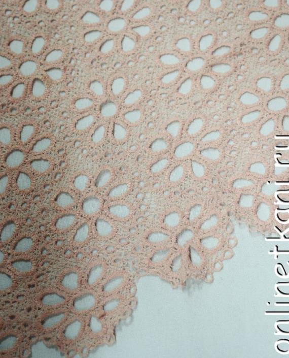 Ткань Гипюр 150 цвет бежевый цветочный картинка