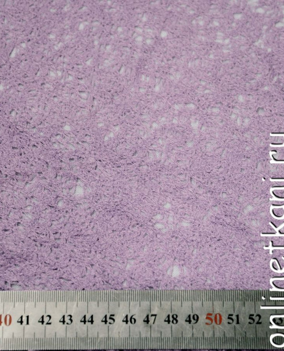 Ткань Гипюр 153 цвет сиреневый цветочный картинка 2