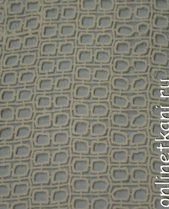 Ткань Гипюр 163 цвет бежевый геометрический картинка