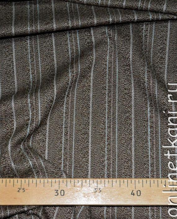 Ткань хлопок 0277 цвет коричневый в полоску картинка