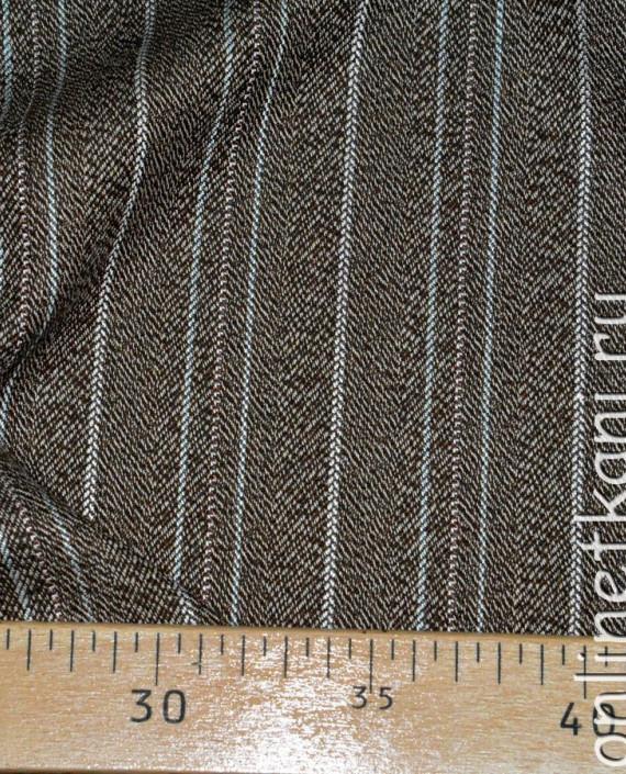 Ткань хлопок 0277 цвет коричневый в полоску картинка 1