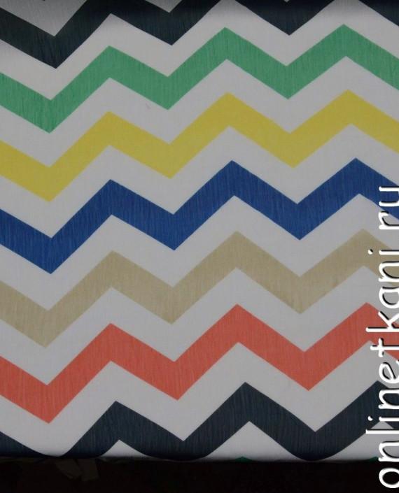 Ткань Шифон Набивной 0107 цвет разноцветный геометрический картинка