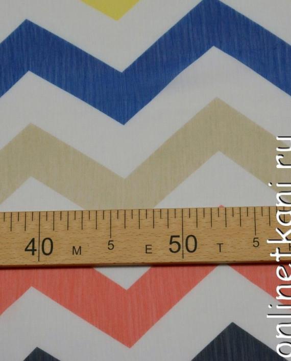 Ткань Шифон Набивной 0107 цвет разноцветный геометрический картинка 1