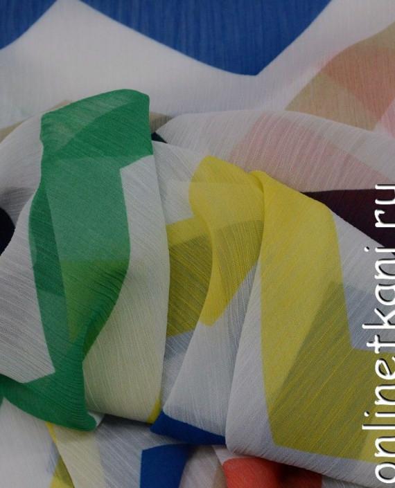 Ткань Шифон Набивной 0107 цвет разноцветный геометрический картинка 2
