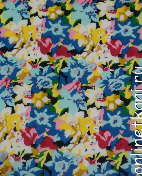 Ткань Шифон Набивной  0144 цвет разноцветный цветочный картинка