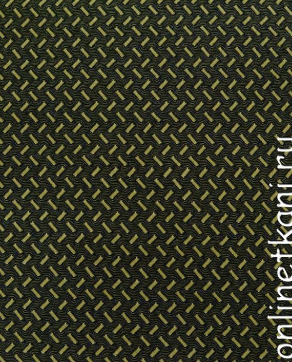 Ткань Трикотаж 0068 цвет черный геометрический картинка
