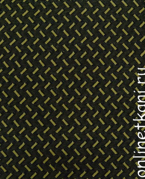 Ткань Трикотаж 0068 цвет черный геометрический картинка 2