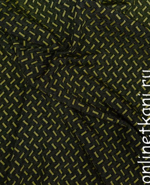 Ткань Трикотаж 0068 цвет черный геометрический картинка 1