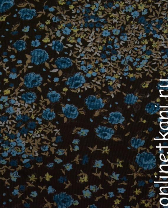 Ткань Трикотаж 0076 цвет разноцветный цветочный картинка