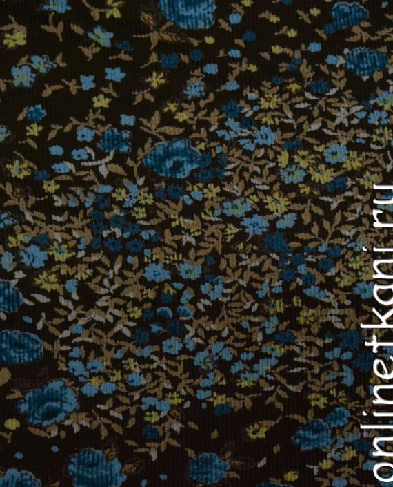 Ткань Трикотаж 0076 цвет разноцветный цветочный картинка 2