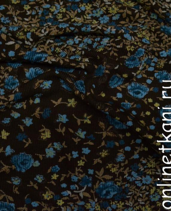 Ткань Трикотаж 0076 цвет разноцветный цветочный картинка 1