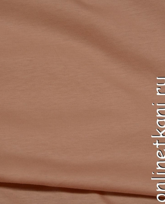 Ткань Трикотаж 0140 цвет коричневый меланж картинка 1