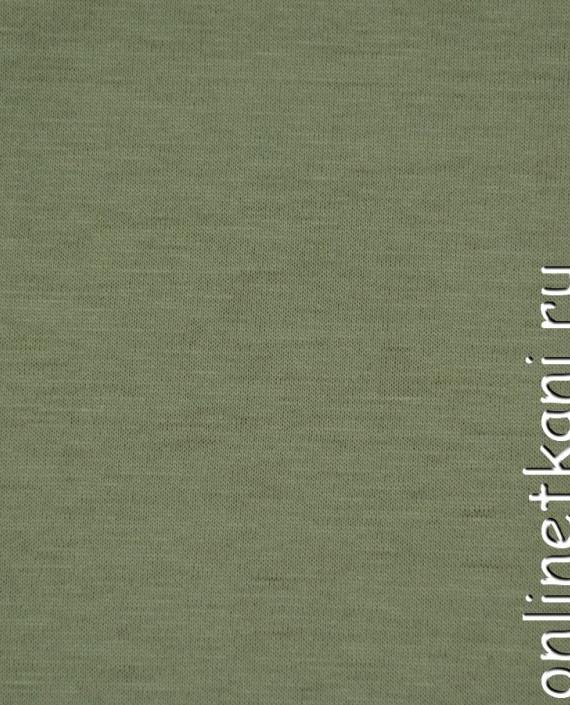 Ткань Трикотаж 0148 цвет зеленый меланж картинка 2