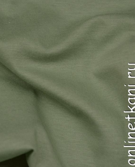 Ткань Трикотаж 0148 цвет зеленый меланж картинка 1