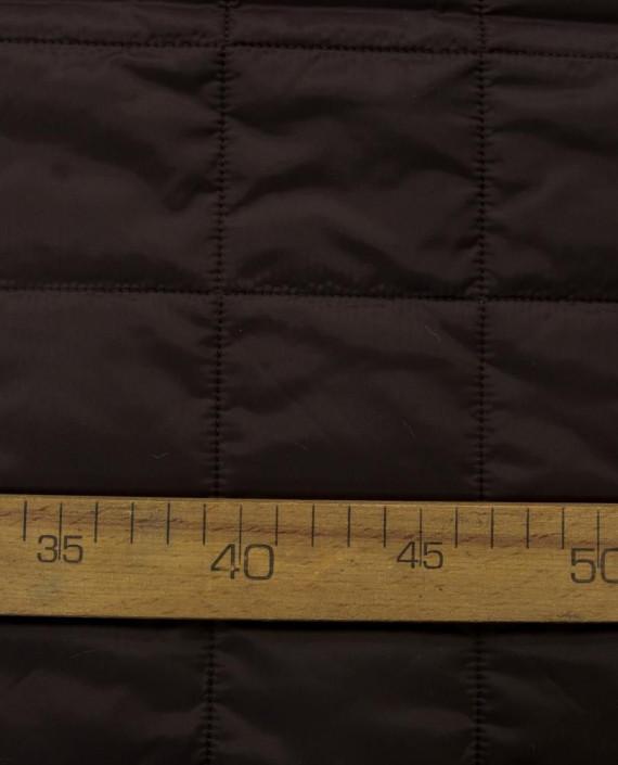 Стеганая ткань 125 цвет коричневый клетка картинка 1