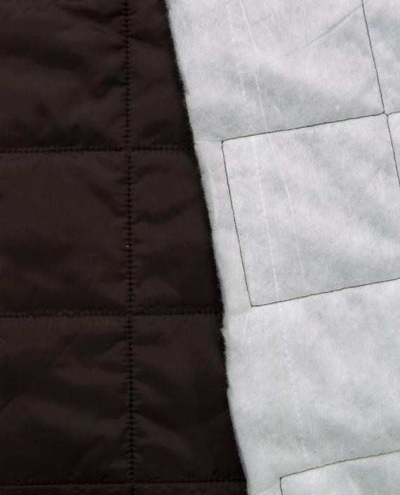 Стеганая ткань 125 цвет коричневый клетка картинка 2