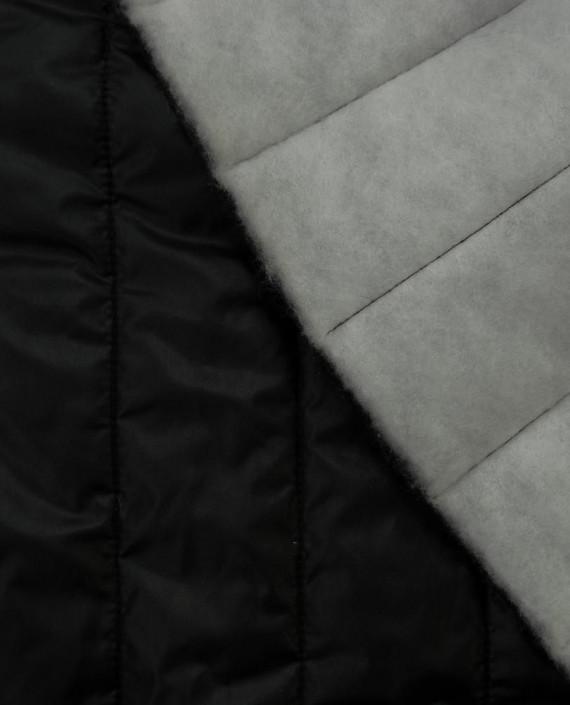 Стеганая ткань 119 цвет серый полоска картинка 1