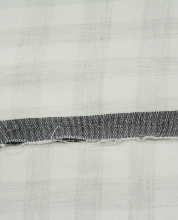 Последний отрез-1.8м Хлопок Рубашечный Фланелька 12879 цвет серый клетка картинка 1