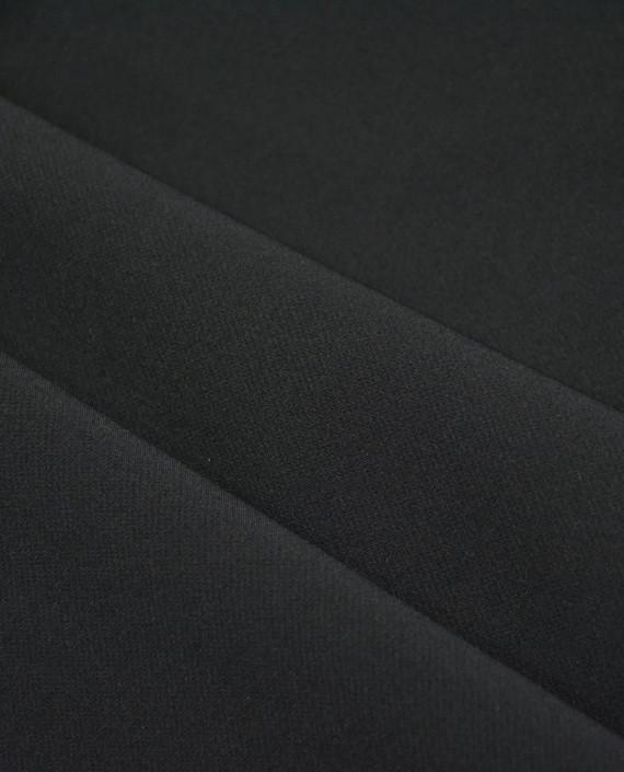 Ткань Костюмная 1047 цвет черный картинка 2