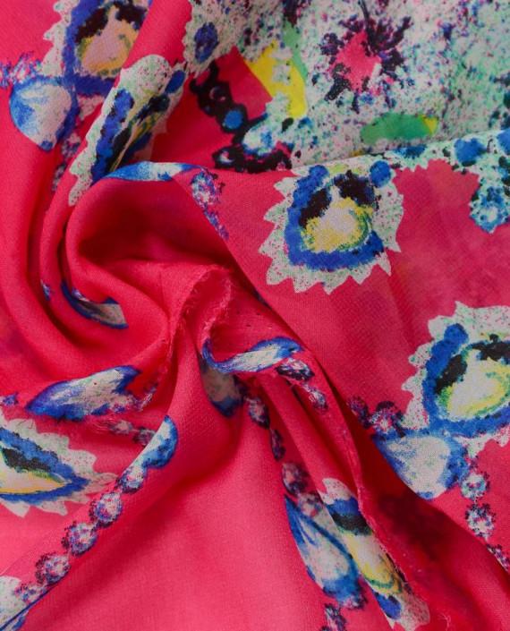 Шифон принт 0571 цвет разноцветный абстрактный картинка 1
