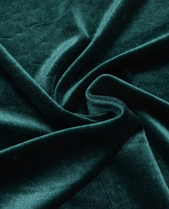 Бархат Стрейч 017 цвет зеленый картинка