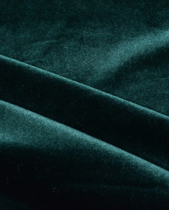 Бархат Стрейч 017 цвет зеленый картинка 2