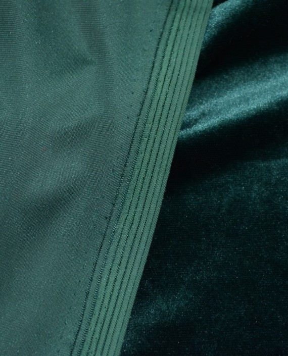 Бархат Стрейч 017 цвет зеленый картинка 1
