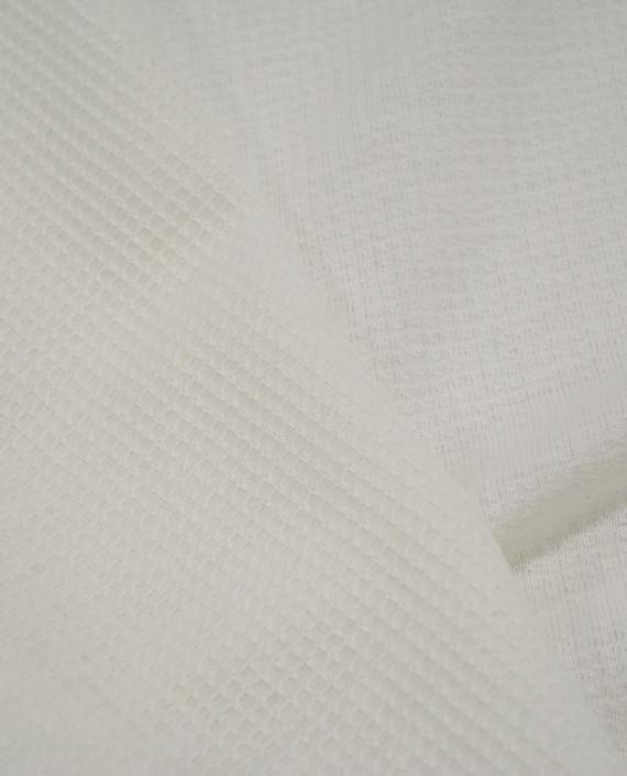 Трикотаж Хлопковый 2988 цвет белый клетка картинка 2