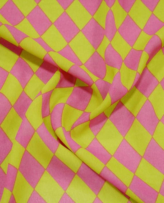 Креп шифон  1106 цвет разноцветный клетка картинка